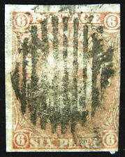 Canada Newfoundland Stamp 1862-64 6d Crown Heraldic Flowers Scott # 20 SG20 Used