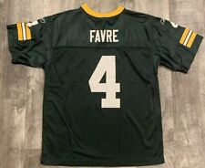 Classic Reebok Brett Favre Green Bay Packers Football Jersey Size Youth Large