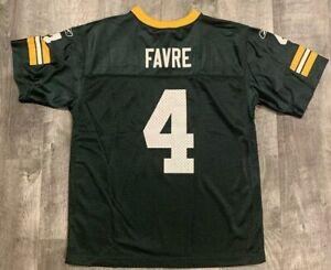 NFL Classic Reebok Brett Favre Green Bay Packers Football Jersey Sz Youth Large