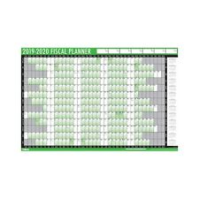 2019-2020 Financial Fiscal Wall Planner Calendar with Pen and Adhesive Dots