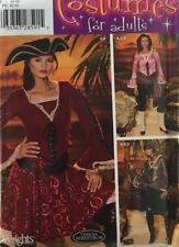 Woman Pirate Costume Sewing Pattern 14-22 Simplicity 4914 OOP