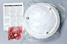 LITHONIA Lighting Vela 14 White LED Round Flushmount Nickel Ring 4000K - NEW