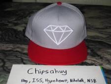 Diamond Supply Co Snapback Grey Red Hat Cap Rock USA DS OSFA