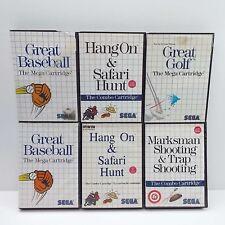 LOT OF 6 GAME FOR SEGA MASTER SYSTEM (GAME + CASE + BOOKLET) LOOK DESC. (E2300)