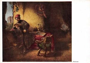 BF35068 the student rembrandt painting art front/back scan