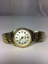Women's Benrus Watch BN543 Gold Tone Date Round Dial Analog New Battery