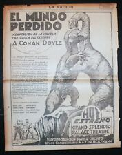 THE LOST WORLD (1925) , Original Advertising full newspaper page
