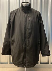 TUMI T-Tech Men's Black Hidden Hood Waterproof Jacket Size XL Great Condition