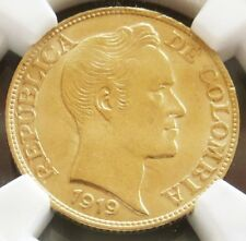 1919 GOLD COLOMBIA 2 1/2 PESOS