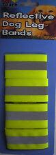 Paquete De 4 florescence & reflectante bandas de pierna de Seguridad de Perro