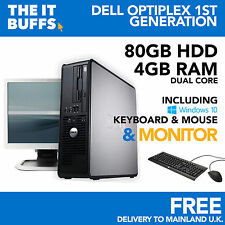 Dell OptiPlex - Dual Core 4gb RAM 80gb HDD Windows 10 Escritorio Pc Ordenador