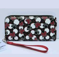 DISNEY Parks Minnie Mouse fiocco Nero & Rosso Icona Braccialetto wallet purse new