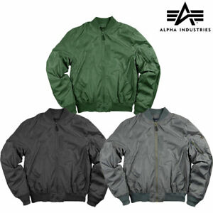 Flight Jacket MA1 Light Military Style US Pilot Original Alpha Industries Bomber