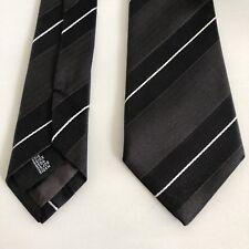 Dolce Gabbana Mens Brown Striped Slim Tie