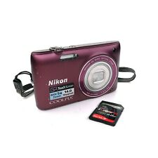 Nikon COOLPIX S4100 14MP Zoom Point & Shoot Digital Camera w/ 2gb SD Card Tested