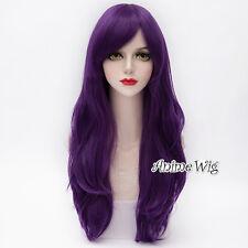 My Little Pony Rarity Purple Wavy Long Women Cosplay Synthetic Hair Wig 70CM