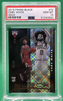 Coby White 2019 Panini Black RC ROOKIE Gold Parallel /25 🏦 PSA 10 🏦 POP 1