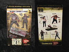 BLOODY ZOMBIE 3 PACK BW The Walking Dead TV SERIE 2 Set RV Well Bicycle Girl Box