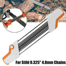 "2 IN 1 Metal Easy Chainsaw Chain File Sharpener 0.325"" 4.8mm Replace For Stihl"