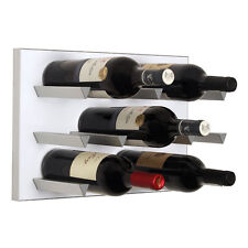 Vinowall Wall Mounted Wine Rack 12 Bottle (White Finish)