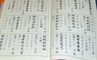 Japanese Break Calligraphy Dictionary book,character,kanji,japan #0576
