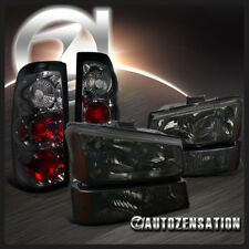 2003-2006 Silverado Smoke Headlights+Bumper Park Lamps+Tail Brake Lights