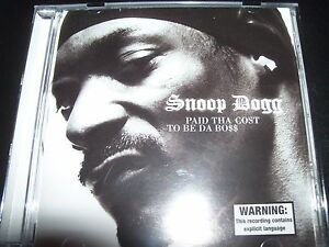 Snoop Dogg Paid Tha Cost To Be Da Boss (Australia) CD – Like New