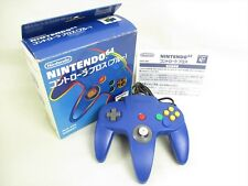 Nintendo 64 CONTROLLER Bros Blue NUS-005 Boxed Official Tested JAPAN 2156