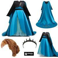 Simile Frozen Regina Anna 2 Vestito Carnevale Bambina Costume Dress FROZ051