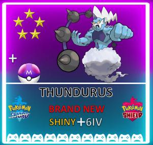 Pokemon Sword & Shield THUNDURUS! 6IV SHINY! BRAND NEW! CROWN TUNDRA DLC