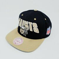 Vintage Mitchell & Ness NFL New Orleans Saint Snap Back Cap Hat