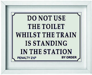 British Railway Station Sign Picture | Toilet Bathroom Picture | 10 x 8 |  NP240