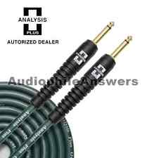 Analysis Plus Green Bass Oval Instrument Cable with Straight Standard Plugs 10ft