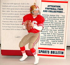 "JOE MONTANA San Francisco 49ers QB 1995 Hallmark Keepsake Ornament  ""FB Legends"""