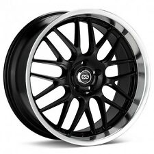 18x8 Enkei LUSSO 5x114.3 +40 Black Rims Fits Veloster Mazda Speed 3
