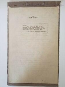 LAUREL & HARDY Original Short Subject Script /1934 The Live Ghost