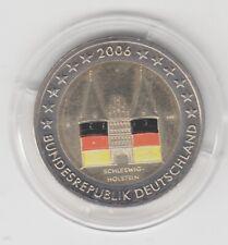 Deutschland  2 €  Schleswig Holstein  Holstentor   2006  coloriert  Farbmünze