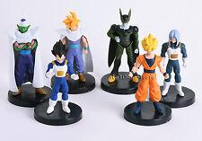 Dragon Ball Z 6x Figures Set: Piccolo Cell Trunks Super Saiyan Goku Gohan Vegeta