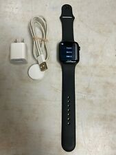 Apple Watch Series 4 44 mm Space Black Stainless Steel Case with Black Sport...