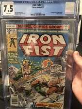 Iron Fist #14 (Marvel 8/77) 1st Sabretooth (Victor Creed) - CGC 7.5 Newstand