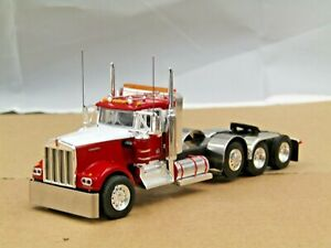 Dcp Custom white/red KW W900A 4 axle heavyhaul tractor 1/64