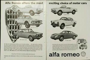1962 Alfa Romeo Full Motor Car Line Zagato Berliner Giulietta Vintage Print Ad