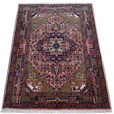 Orientteppich Iran Persien Heriz Grün handgeknüpft Wolle 110x156 cm NEU
