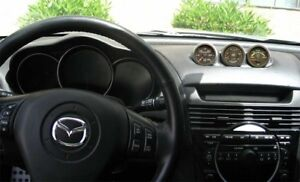 NEW Fits 2004 - 2008 Mazda RX8 Triple Pod Dash Mounted Gauge Holder