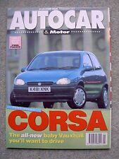 Autocar (3 Feb 1993) BMW 850i, Corsa, Jeep Wrangler, Daihatsu Mira, Subaru Vivio