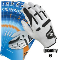 6 x Bionic Golf Gloves StableGrip - Mens Right Hand - White - Leather $27.50 ea