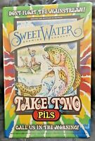 Sweetwater Brewing Company Take Two Pils Metal Beer Tacker Craft Brewery New!!!!