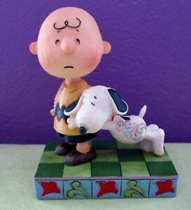 """Jim Shore Peanuts Charlie Brown & Snoopy """"I'll Miss You"""" Figurine Sculpture NEW!"""