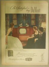 Dumont TV Ad:Be Satisfied Buy DuMont Television from 1951