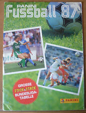 PANINI Fussball'87 autocollant album, * quasiment vide-seulement 6 stickers inside *.